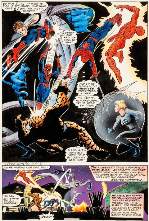 Marvel Team-Up page 28 by Frank Miller, Bob Wiacek and Steve Oliff.  Source.