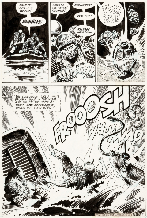 Our Army At War issue 217 page 8 by Joe Kubert.  Source.