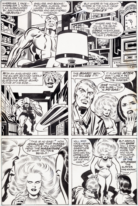 Silver Surfer Graphic Novel page 64 by Jack Kirby and Joe Sinnott. Source.