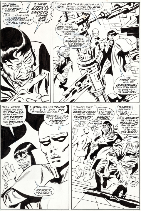 Silver Surfer issue 7 page 19 by John Buscema and Sal Buscema.  Source.
