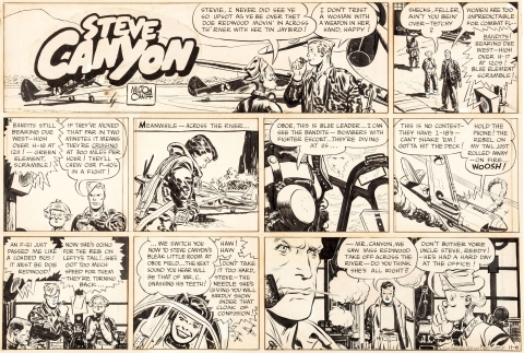 Steve Canyon Sunday 11-06-1949 by Milton Caniff.  Source.