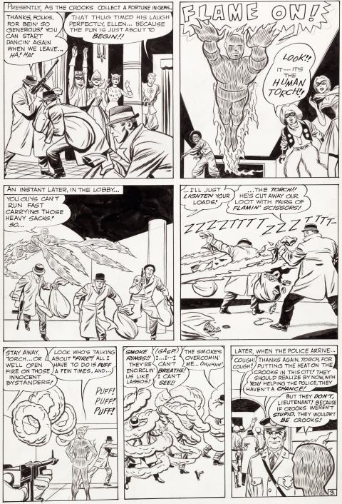 Strange Tales issue 108 page 3 by Jack Kirby and Dick Ayers. Source.