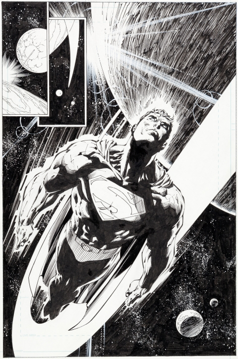 Superman issue 204 page 16 by Jim Lee and Scott Williams.  Source.