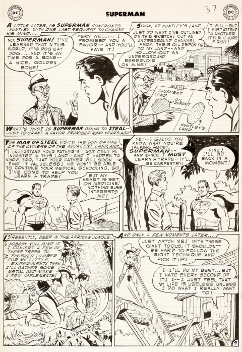 Superman issue 93 page 9 by Al Plastino.  Source.