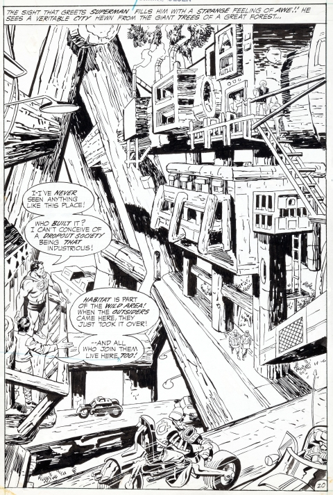 Superman's Pal Jimmy Olsen issue 133 splash by Jack Kirby and Vince Colletta.  Source.