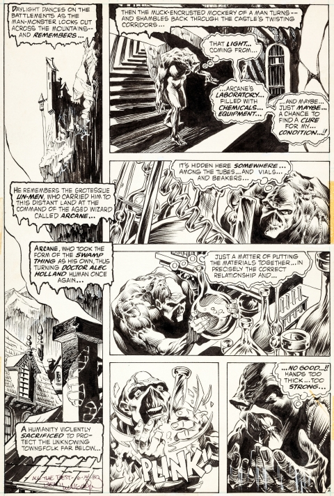 Swamp Thing issue 3 page 2 by Bernie Wrightson.  Source.