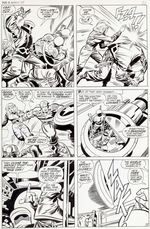 Tales Of Suspense issue 94 page 9 by Jack Kirby and Joe Sinnott.  Source.