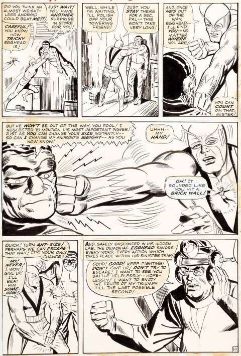 Tales To Astonish issue 61 page 10 by Steve Ditko and George Roussos.  Source.