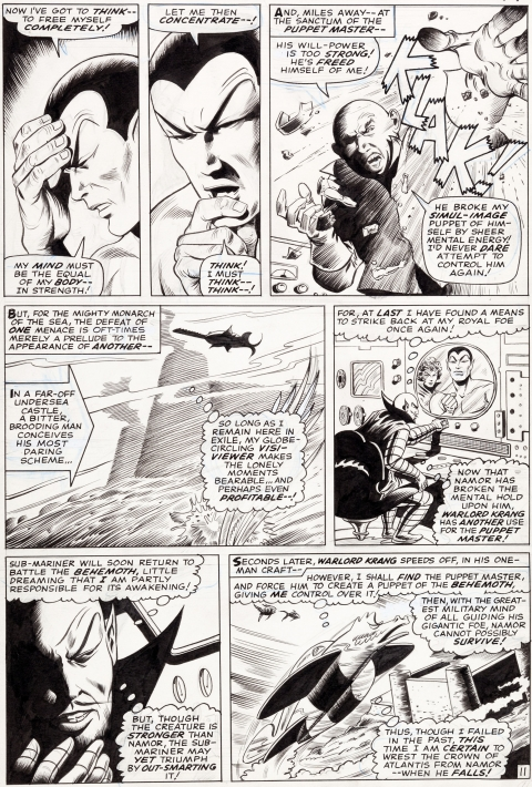 Tales To Astonish issue 79 page 11 by Gene Colan and Bill Everett. Source.