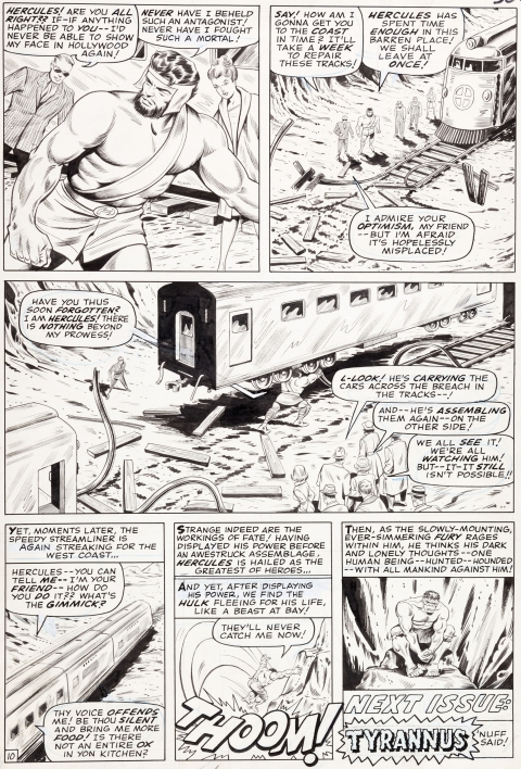 Tales To Astonish issue 79 page by Jack Kirby and Bill Everett.  Source.