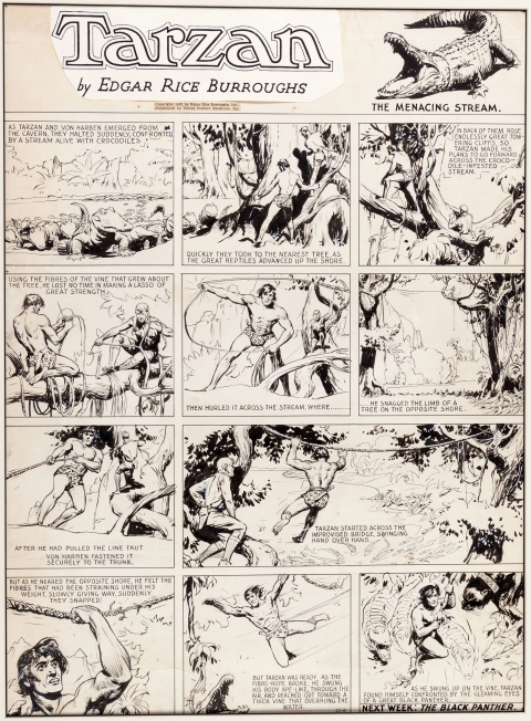 Tarzan Sunday 11-6-1932 by Hal Foster.  Source.