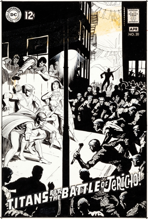 Teen Titans issue 20 cover by Nick Cardy.  Source.