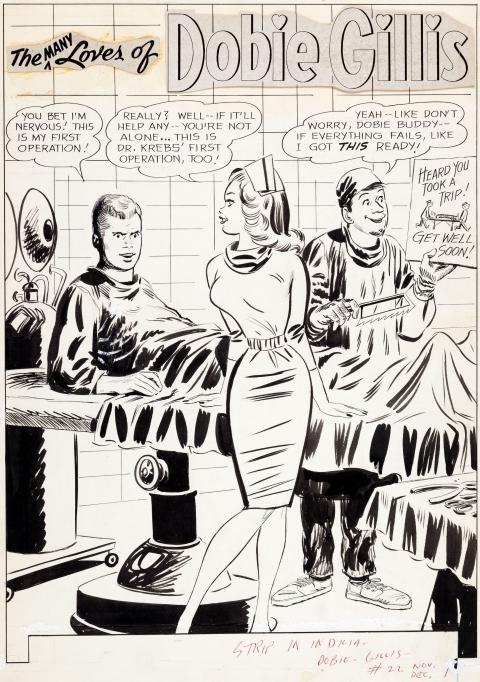 The Many Loves Of Dobie Gillis issue 22 splash by Bob Oksner.  Source.