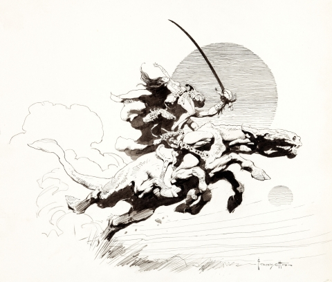 Thuvia Maid Of Mars by Frank Frazetta.  Source.