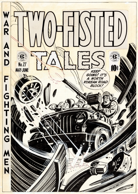 Two-Fisted Tales issue 27 cover by Harvey Kurtzman.  Source.