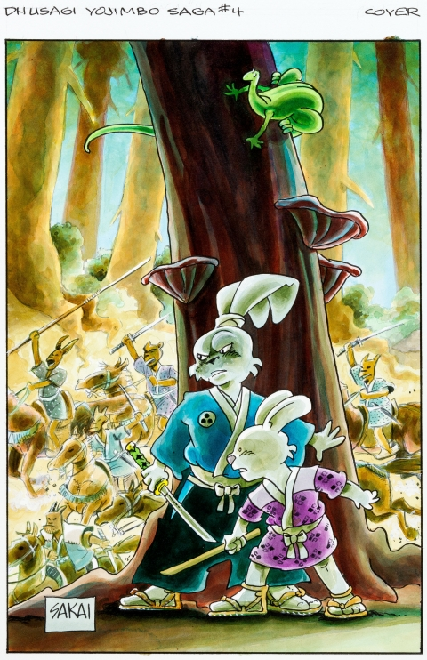 Usagi Yojimbo Saga issue 4 cover by Stan Sakai.  Source.