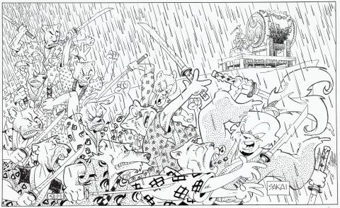 Usagi Yojimbo Trade 28 endpaper by Stan Sakai.  Source.