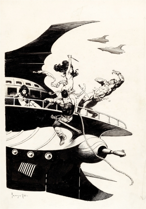 Warlord Of Mars by Frank Frazetta.  Source.