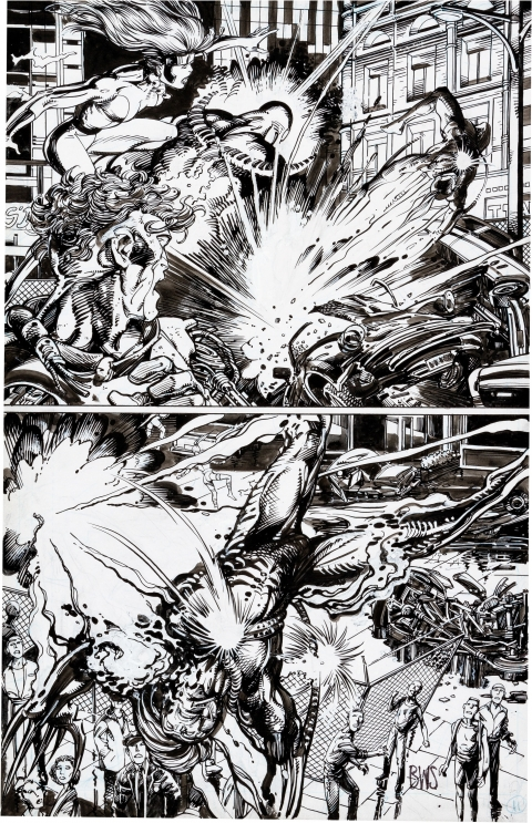 Wildstorm Rising issue 1 page 11 by Barry Windsor-Smith and Alex Bialy.  Source.