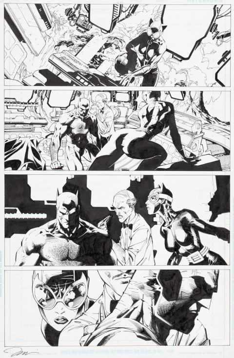 Wizard Batman issue 0 page 1 by Jim Lee and Scott Williams.  Source.