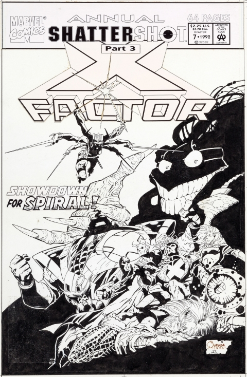 X-Factor Annual 7 cover by Joe Quesada and Joe Rubinstein.  Source.