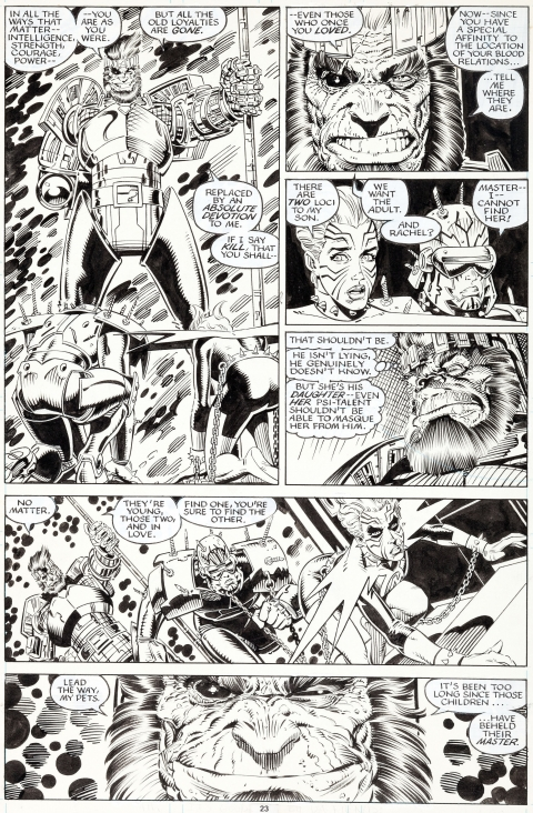X-Men Annual issue 14 page 23 by Art Adams.  Source.