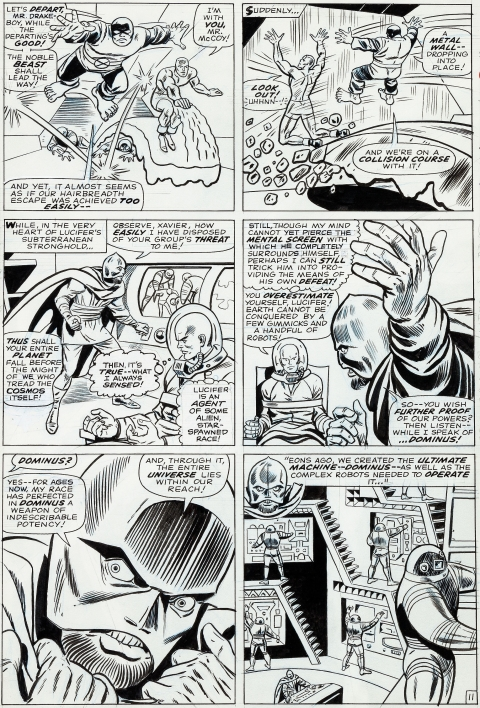 X-Men issue 21 page 11 by Werner Roth and Dick Ayers.  Source.