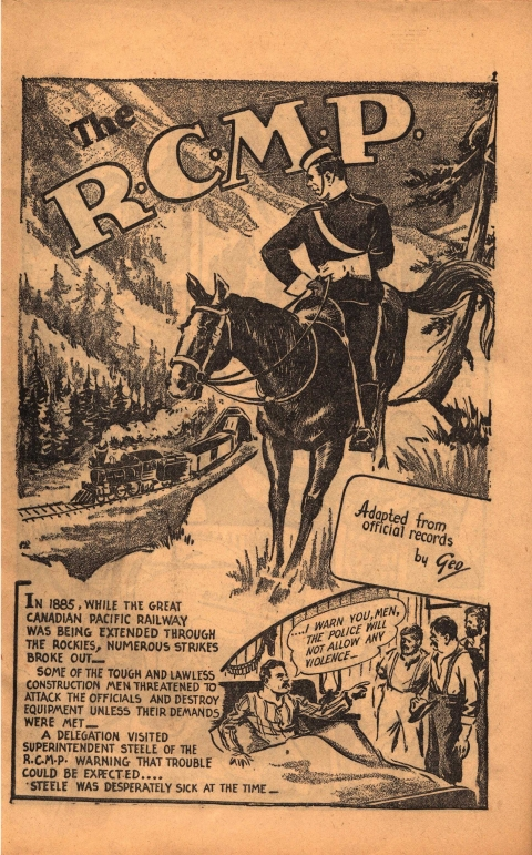 RCMP story splash by Rae from Canadian heroes Vol. 4 No. 5