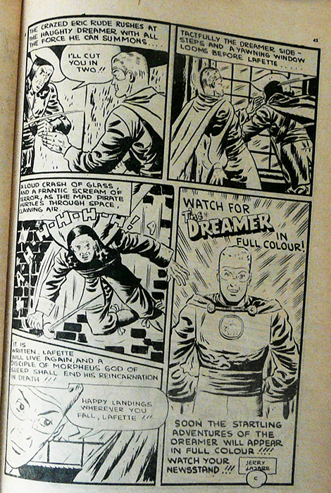 Last page of Dreamer story from Active Comics No. 28