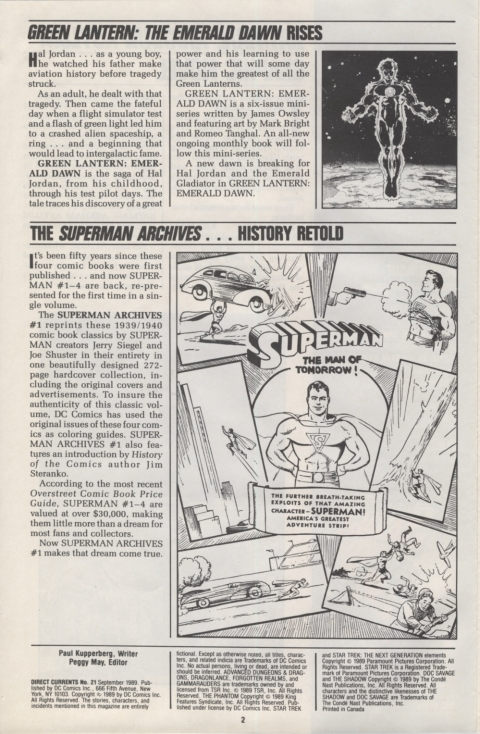 DC Direct Currents 21 October 1989 Page 2