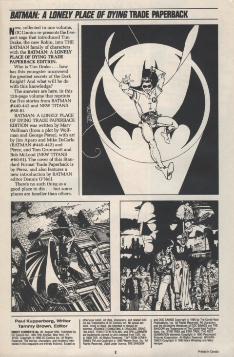 DC Direct Currents August 1990 Page 2