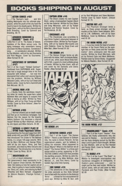 DC Direct Currents August 1990 Page 4