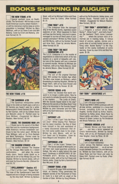 DC Direct Currents August 1990 Page 6