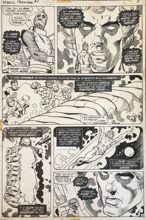 Marvel Premiere issue 1 page 9 by Gil Kane and Dan Adkins. Source.