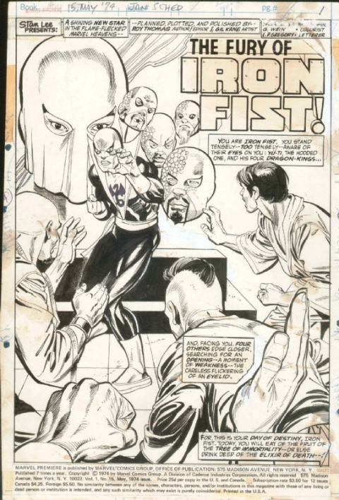 Marvel Premiere issue 15 splash by Gil Kane and Dick Giordano. Source.