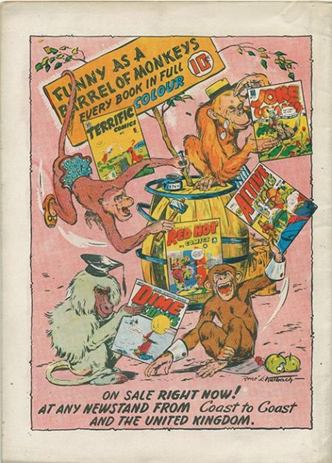 Back cover for New Triumph Comics 32