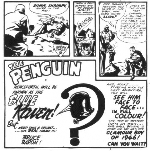 Last panels of Penguin story from Wow 30