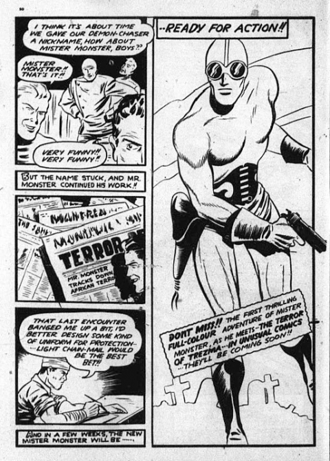 Last page of Doc Stearne/Mr. Monster story from Triumph 31