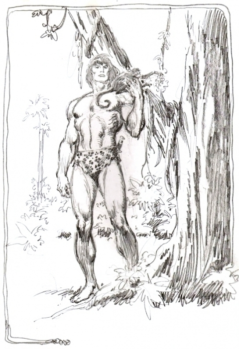 Tarzan pin-up by John Buscema