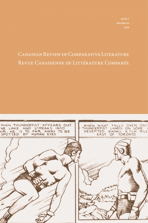 Cover of Canadian Review of Comparative Literature Vol. 43 No. 1