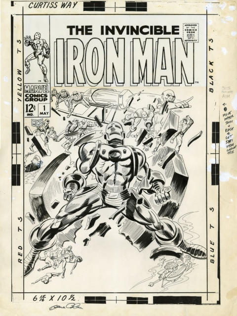 Iron Man issue 1 cover by Gene Colan