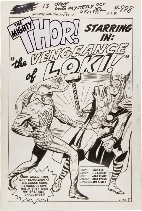 Journey Into Mystery issue 88 splash by Jack Kirby and Dick Ayers