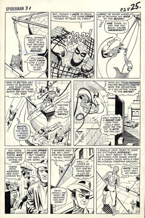 Amazing Spider-Man issue 31 page 19 by Steve Ditko. Source.