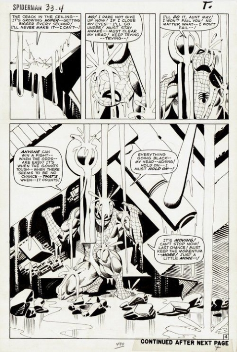 Amazing Spider-Man issue 33 page 4 by Steve Ditko