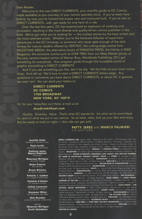 DC Direct Currents 89 July 1995 Page 2