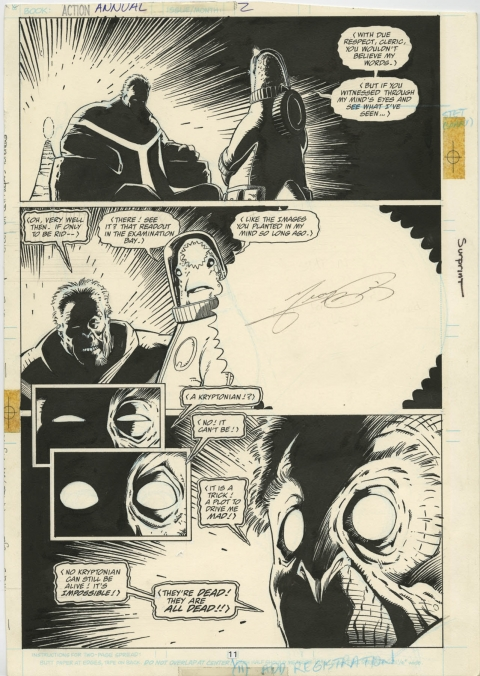 Action Comics Annual 2 page 11 by Mike Mignola and George Perez.  Source.