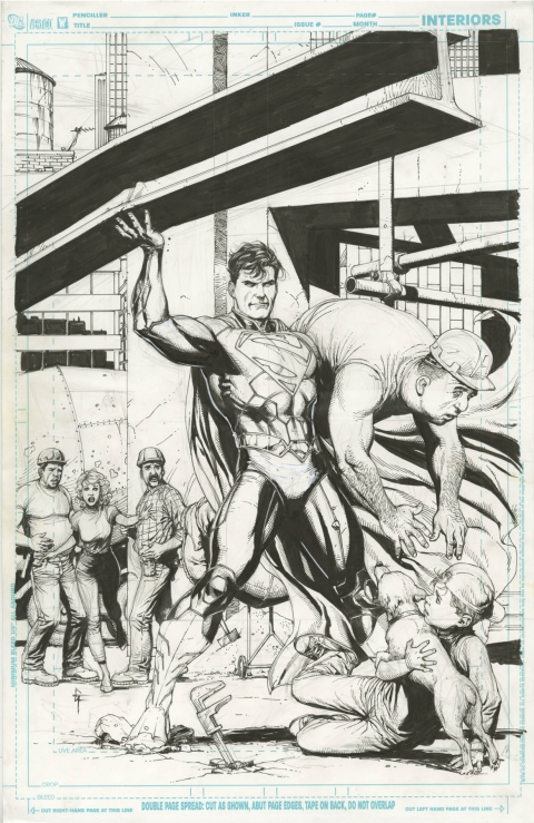 Action Comics issue 8 cover by Gary Frank.  Source.