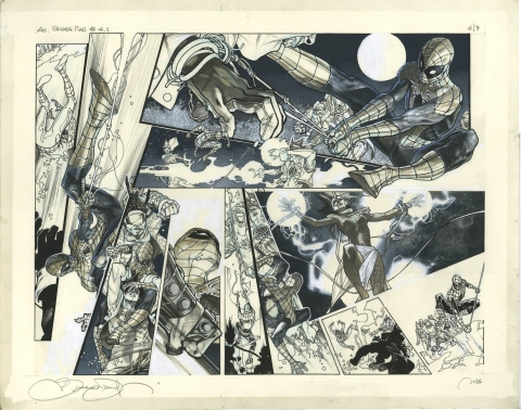 Amazing Spider-Man issue 1.4 pages 6-7 by Simone Bianchi. Source.