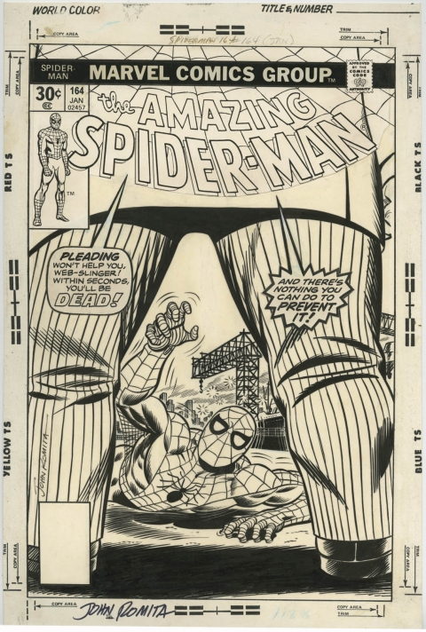 Amazing Spider-Man issue 164 cover by John Romita. Source.
