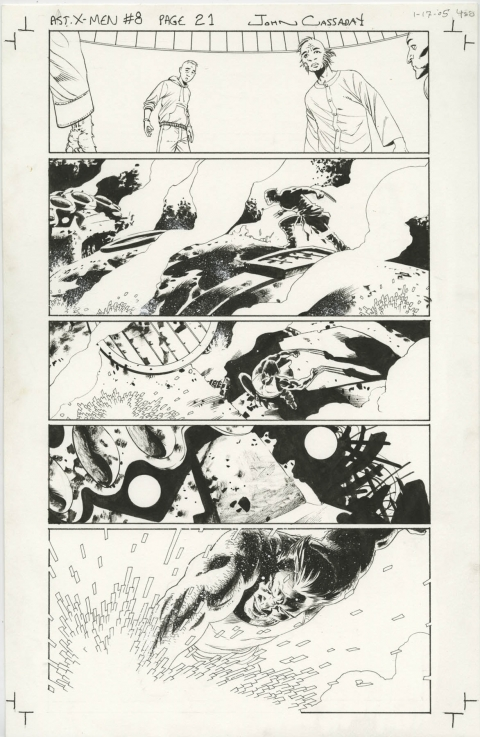 Astonishing X-Men issue 8 page 21 by John Cassaday. Source.